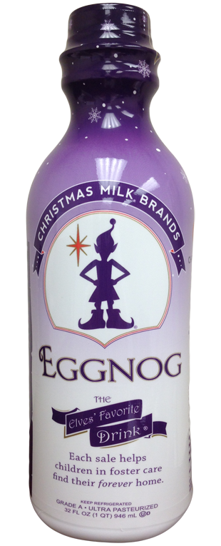 Christmas Milk Bottle